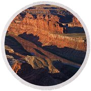 Dead Horse Point Sunrise Panorama Round Beach Towel