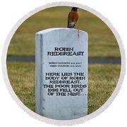 Dead Robin Round Beach Towel