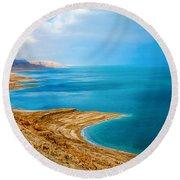 Dead Sea Round Beach Towel