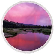 Deadwood River Round Beach Towel