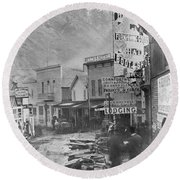 Deadwood, South Dakota Round Beach Towel