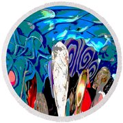 Dean Abstract Round Beach Towel