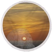 Death Of A Day Round Beach Towel