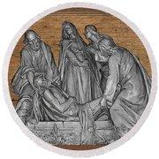 Death Of Christ Round Beach Towel