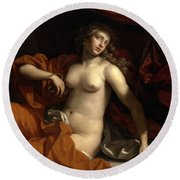 Death Of Cleopatra Round Beach Towel