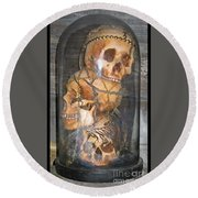 Death On Display Round Beach Towel