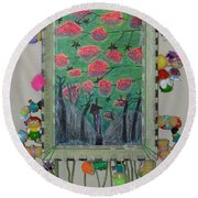 Death Tree - Framed Round Beach Towel