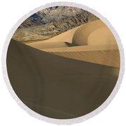 Death Valley Mesquite Flat Sand Dunes Img 0086 Round Beach Towel