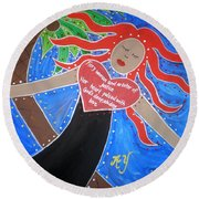 Deborah Round Beach Towel