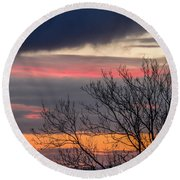 December County Clare Sunrise Round Beach Towel