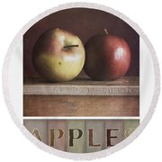 Deco Apples Round Beach Towel