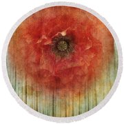 Decor Poppy Blossom Round Beach Towel