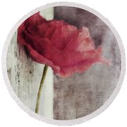 Decor Poppy Round Beach Towel by Priska Wettstein