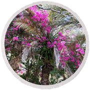 Decorated Palm Round Beach Towel