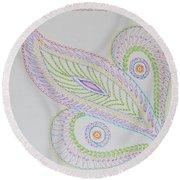 Decorative Leaf Round Beach Towel
