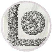 Decorative Letter Type L 1650 Round Beach Towel