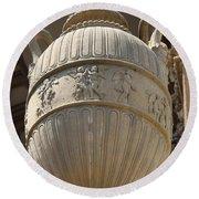 Decorative Urn - Palace Of Fine Arts Sf Round Beach Towel