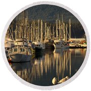Deep Bay Round Beach Towel