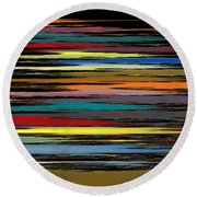 Deep Color Field 2 Round Beach Towel