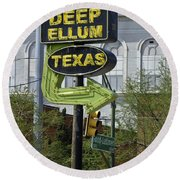 Deep Ellum Texas Round Beach Towel