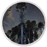 Deep Forest At Night Round Beach Towel