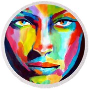 Deep Gaze Round Beach Towel