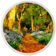 Deep In A Forest Round Beach Towel
