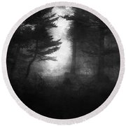Deep In The Dark Woods Round Beach Towel