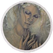 Deep Inside Round Beach Towel by Dorina  Costras