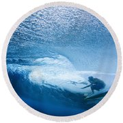 Deep Inside Round Beach Towel
