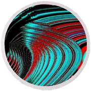Deep Sea Abstract Round Beach Towel