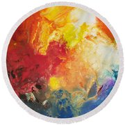 Deep Space Canvas One Round Beach Towel
