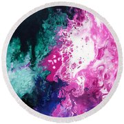 Deep Space Canvas Three Round Beach Towel
