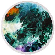 Deep Space Canvas Two Round Beach Towel