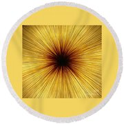 Deepness Round Beach Towel
