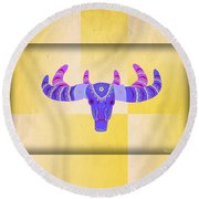 Deer 2 Round Beach Towel