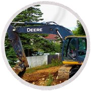 Deere For Hire Round Beach Towel