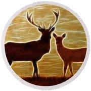 Deers Lookout Round Beach Towel