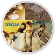 Degas Collage Round Beach Towel by Philip Ralley