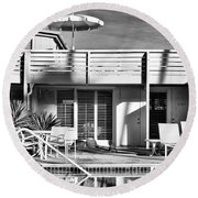 Del Marcos Palm Springs Round Beach Towel