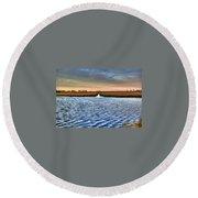 Delaware- Assawoman Bay Round Beach Towel