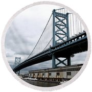 Delaware River Bridge - Philadelphia Round Beach Towel