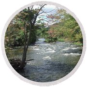 Delhi Rapids From The Bridge Round Beach Towel