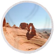 Delicate Arch 1 Round Beach Towel