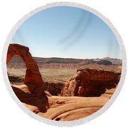 Delicate Arch 2 Round Beach Towel