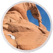 Delicate Arch South Side  Round Beach Towel