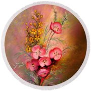 Delicate Beauty Of Spring Round Beach Towel