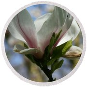 Delicate Bloom Round Beach Towel