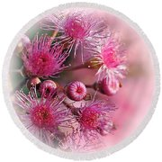 Delicate Buds And Blossoms Round Beach Towel