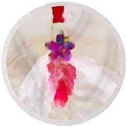 Delicate Dance - Impressionistic Dancer Round Beach Towel